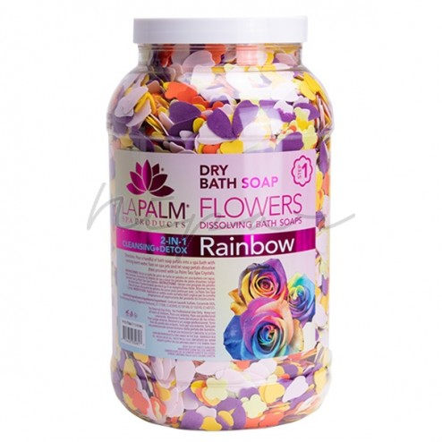 Dry Bath Soap Flowers Rainbow 3785 gr