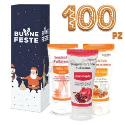 100 pz - Creme Caremed 50 ml con scatola di Natale