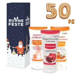 50 pz - Creme Caremed 50 ml con scatola di Natale